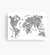 Typography World Map. Leinwanddruck