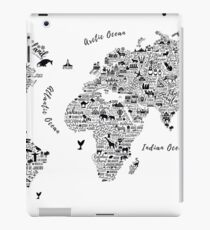 Typography World Map. iPad Case/Skin