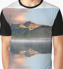 Sunrise over a misty Blea Tarn in the English Lake District Graphic T-Shirt