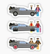 Back to the Future Delorian Sticker