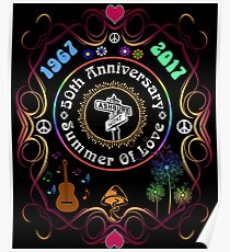 50th Anniversary of The Summer of Love Poster