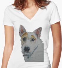 Did Someone Say Biscuits?? Women's Fitted V-Neck T-Shirt