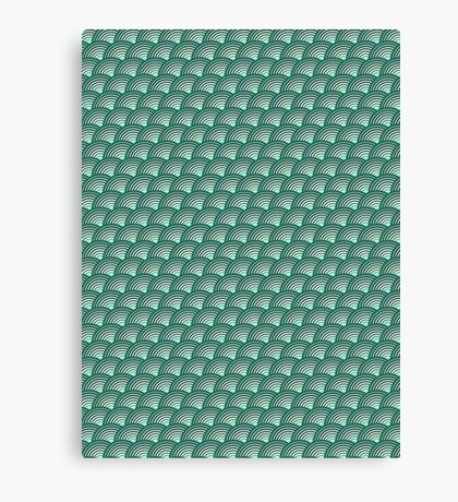 Scales pattern, Japanese inspired Canvas Print