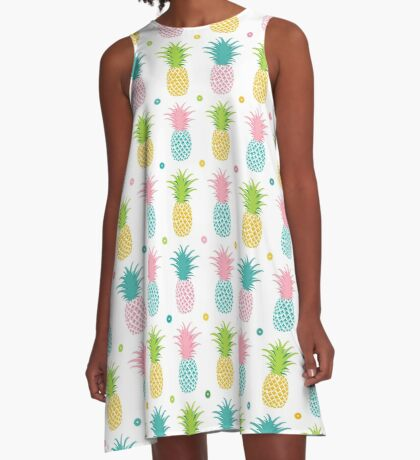AFE Pineapple Pattern A-Line Dress