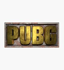 Pubg Players unk. Photographic Print