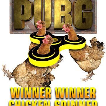 Pubg Winner winner chicken Spinner by Delpieroo