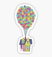 Floating House with a Bunch of Balloons Sticker