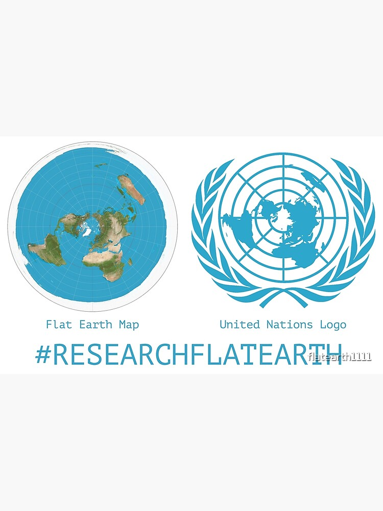 Gleason Flache Erde Karte.Flat Earth Designs Research Flat Earth Map Un Logo Metal Print