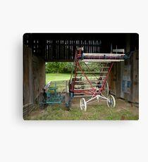 Antique Farm Equipment Canvas Print