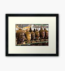 Buddhas (Siem Reap, Cambodia) Framed Print