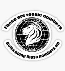 Rookie Numbers Sticker