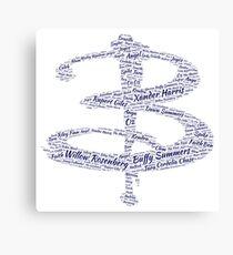 Buffy Word Art Canvas Print