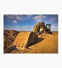 Large yellow excavator Photographic Print