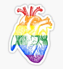 Rainbow Heart - Gay Pride Stickers and Shirts Sticker