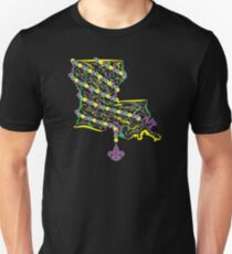 Louisiana State Wrapped in Mardi Gras Beads 2 T-Shirt