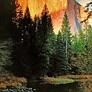 SUNSET ON EL CAPITAN by Chuck Wickham
