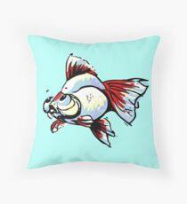 Tancho Telescope Goldfish Throw Pillow