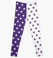 Purple & White Stars Leggings