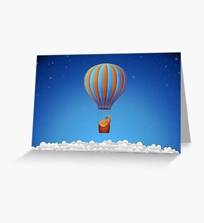 Flying Elephant Greeting Card