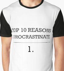 Procrastinator Graphic T-Shirt