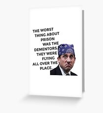 Prison Mike/Michael Scott - The Office US Greeting Card