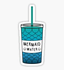 Mermaid Scales Plastic Cup Sticker