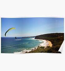 Paraglider at Bells Beach Poster
