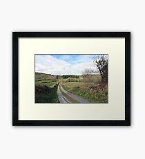 Scenic Irish country road Framed Print