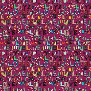 l o v e LOVE pink by scrummy