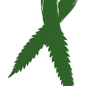 Medical Marijuana Ribbon by TinaGraphics