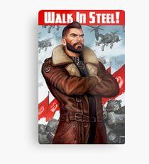 Walk in Steel Metal Print