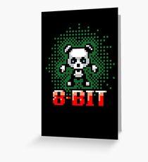 8 Bit Panda Bear Greeting Card
