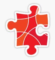 Red puzzle piece Sticker
