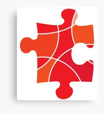 Red puzzle piece Canvas Print
