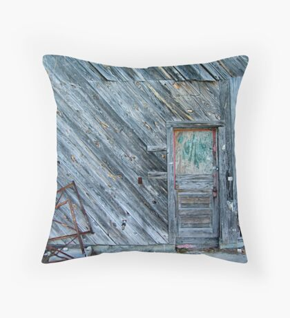 Abandoned Building, Beaufort, SC Throw Pillow