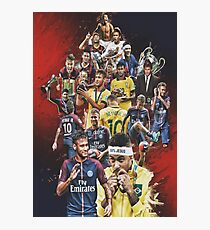 Neymar JR (From Santos to PSG +BRANT) Photographic Print