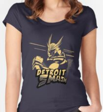 All Might Detroit Smash Women's Fitted Scoop T-Shirt