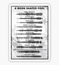 Radiohead - A Moon Shaped Pool - Sound Waves Sticker