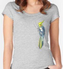 Pied Cockatiel Women's Fitted Scoop T-Shirt