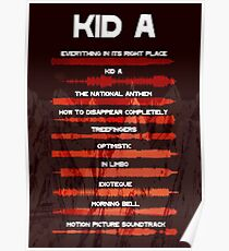 Radiohead - Kid A - Sound Wave Poster