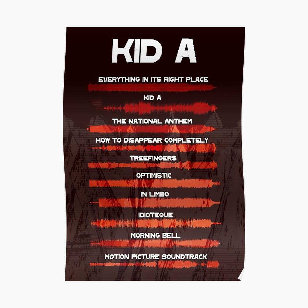 Radiohead - Kind A - Schallwelle Poster
