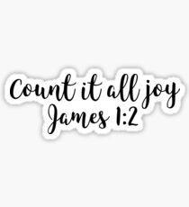 James 1:2 - Count it all joy Sticker
