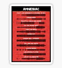 Radiohead - Amnesiac - Sound wave Sticker