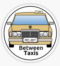 Between Taxis Small Logo Sticker Sticker