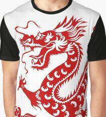 Illustration d'un Dragon Traditionnel Chinois Graphic T-Shirt