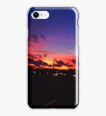 Colorful Sunset Over Road iPhone Case/Skin