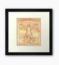 women vitruvian Framed Print