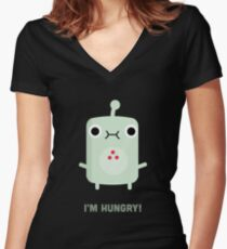 Little Monster - I'm Hungry! Women's Fitted V-Neck T-Shirt