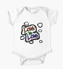 LOVE IS LOVE (Rainbow) One Piece - Short Sleeve