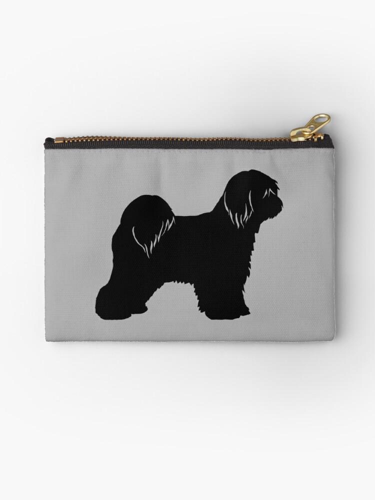Womens Canvas Coin Purse Zipper Small Purse Wallets Dog Sealyham Pattern